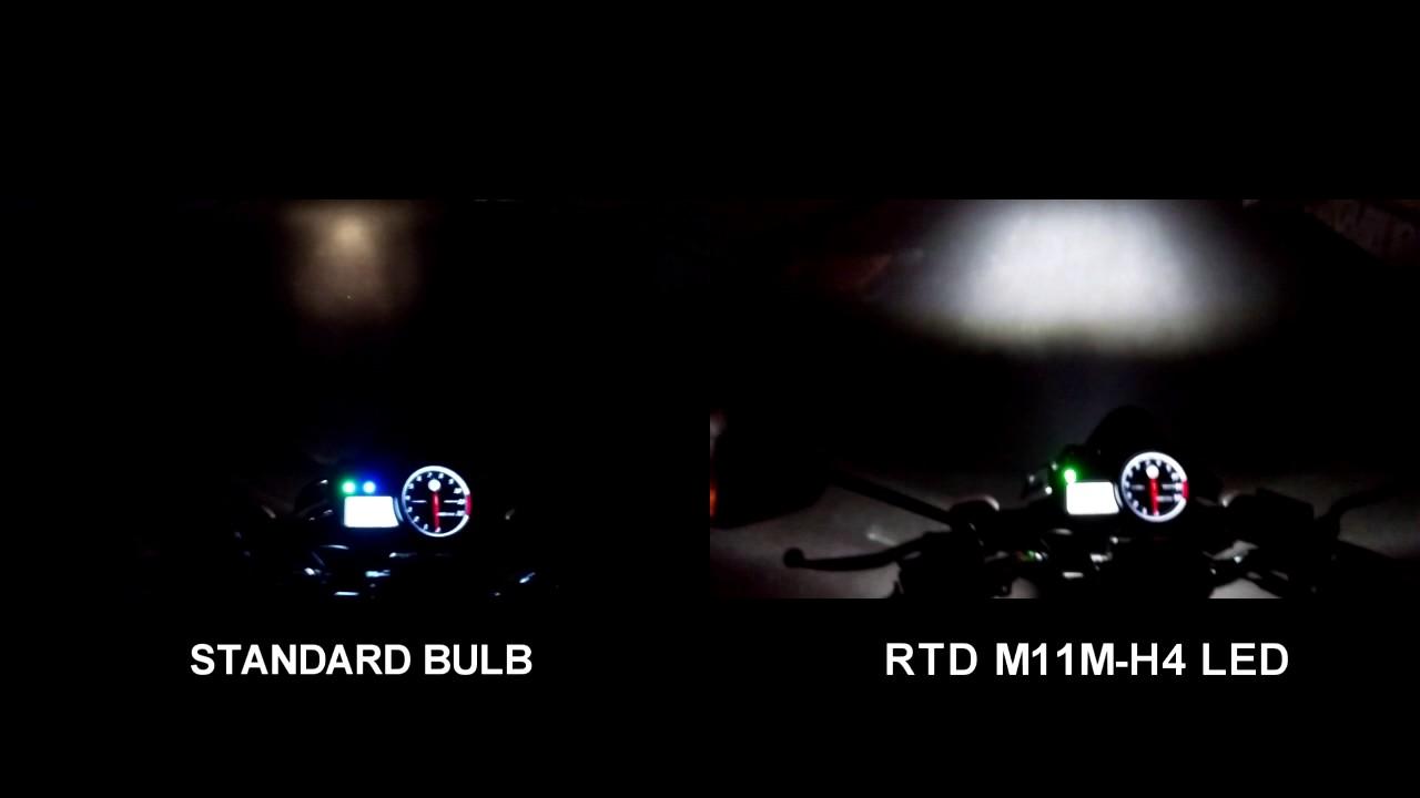Rtd Led Headlight Test On Yamaha Fz150i Headlamp M11p H4 Lampu Utama 6 Sisi