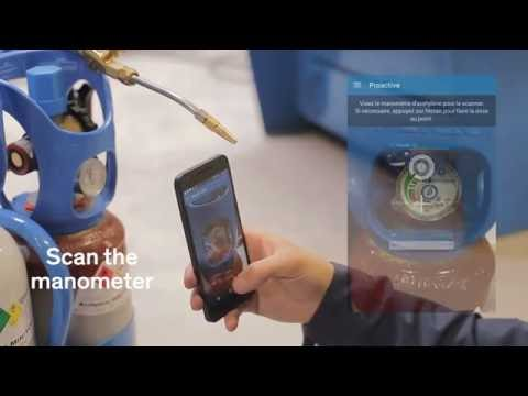 Ubleam & AirLiquide partnership : Augmented gas cylinders for Industry & Health