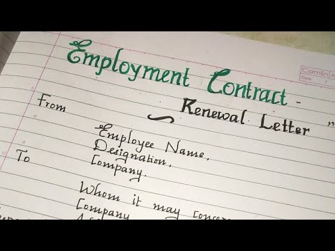 Employment Contract Renewal Letter../writing A Sample  Contract Renewal Letter // Handwriting
