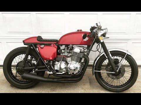 honda cb750 cafe racer- garage built - youtube