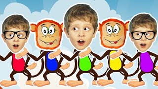 Five Little Monkeys Jumping On The Bed  Kids Song with YudTV