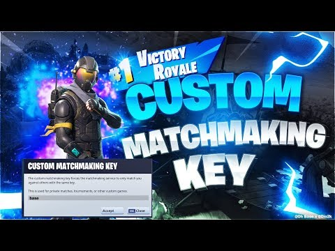 make custom matchmaking fortnite