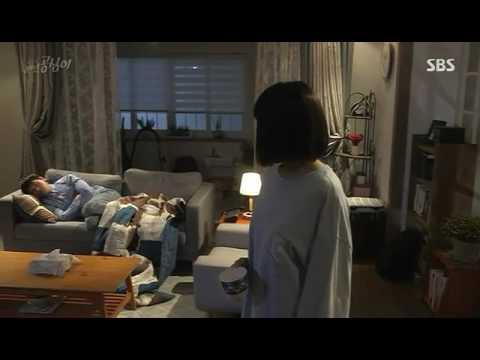 Beautiful Gong Shim Pretty Ugly Funny Scene Ahn Dan Te sleep over,, got slapped