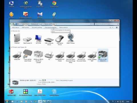 การตั้งค่า printer สำหรับพิมพ์สลิปเงินเดือน windows7