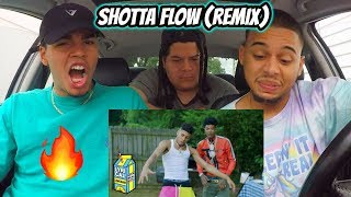 NLE Choppa - Shotta Flow Remix ft. Blueface (Dir. by @_ColeBennett_) REACTION REVIEW