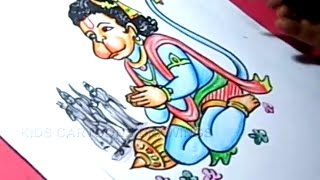 How to Draw Lord Child Hanuman / Bala Hanuman Drawing Step by Step for kids