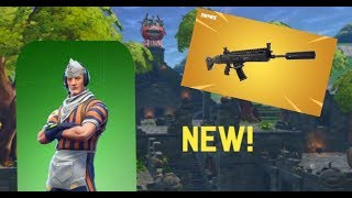 New Grill Sargent Skin and Suppressed Scar! Fortnite ; Battle Royale Gameplay
