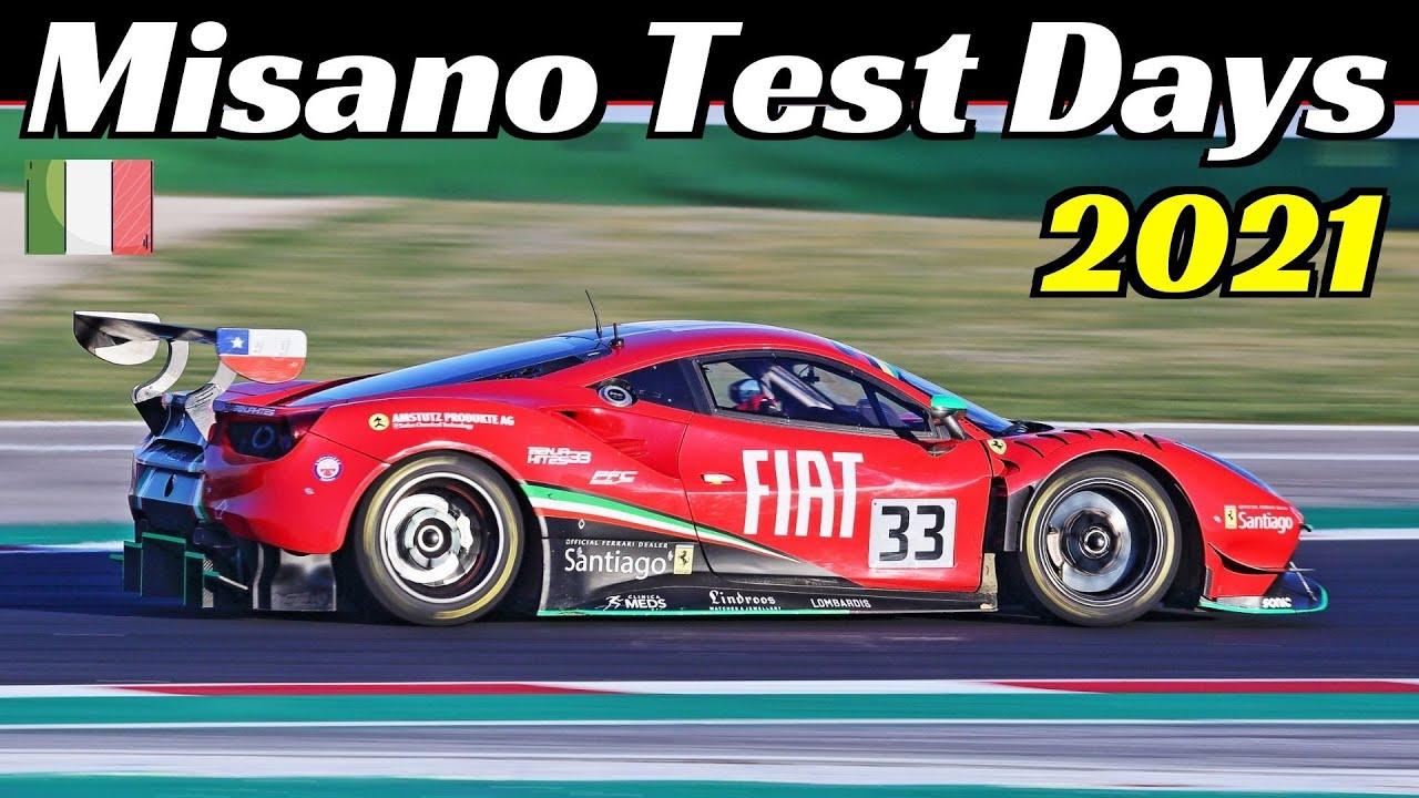 Kateyama Test Days at Misano Circuit, March 2021, Bentley GT3, 488 GT3, Ligier, 991 GT3 R, Cupra TCR