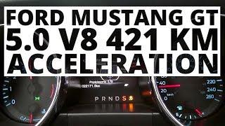 Ford Mustang GT 5.0 V8 421 KM (AT) - acceleration 0-100 km/h thumbnail
