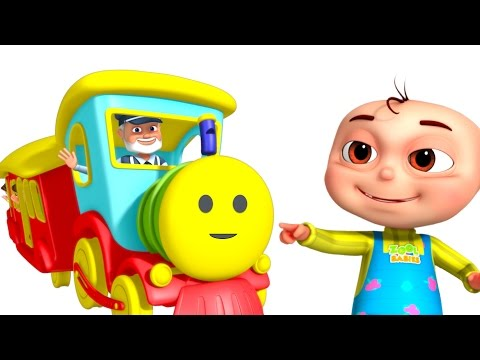 Thumbnail: Five Little Babies Playing In A Toy Train | Nursery Rhymes & Kids Songs | 3D Rhymes For Children