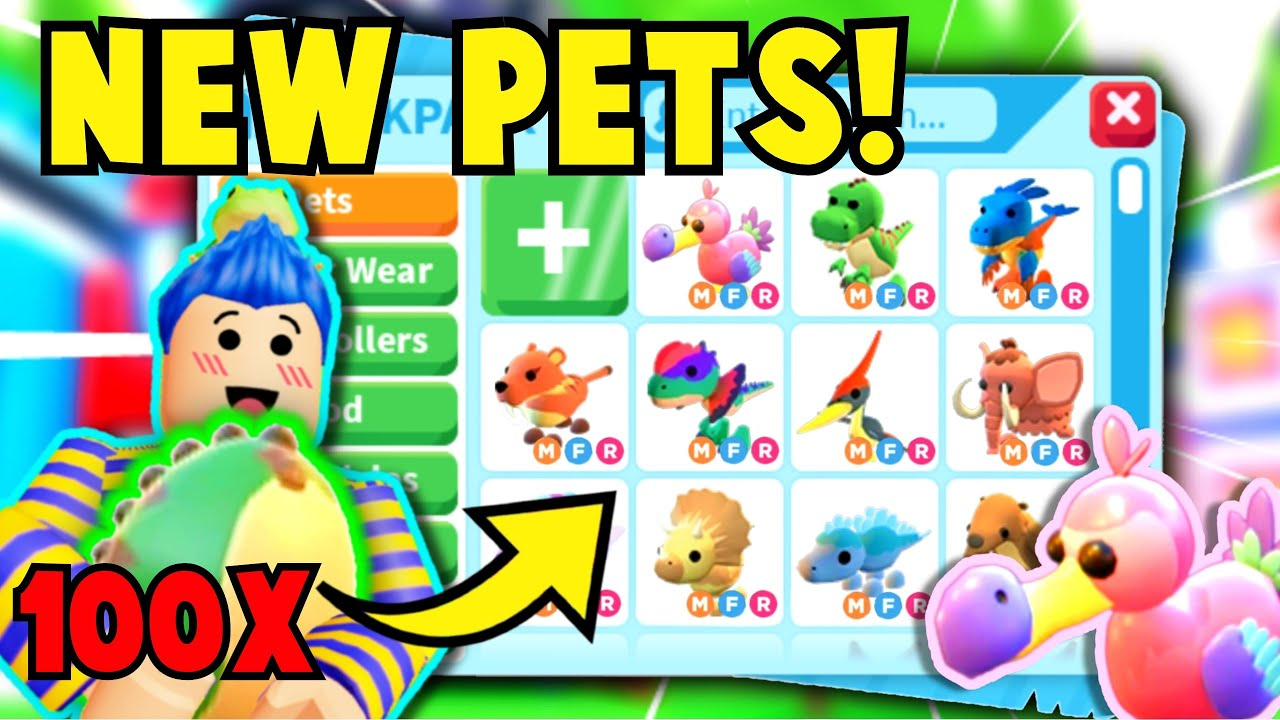 Hatching 100 Fossil Eggs To Get Every Neon Dino Dream Pet Challenge Expensive Adopt Me Roblox Youtube