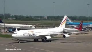 Plane spotting at Schiphol Airport 5 june 2016