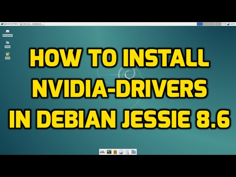 How to Install Nvidia Drivers in Debian Jessie 8.6