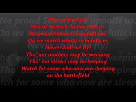 Men of Harlech Wales Welsh LYRICS WORDS BEST TOP TRENDING SING ALONG SONGS Soviet Womble parrt 9