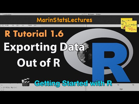 Export Data from R (csv , txt and other formats) | R
