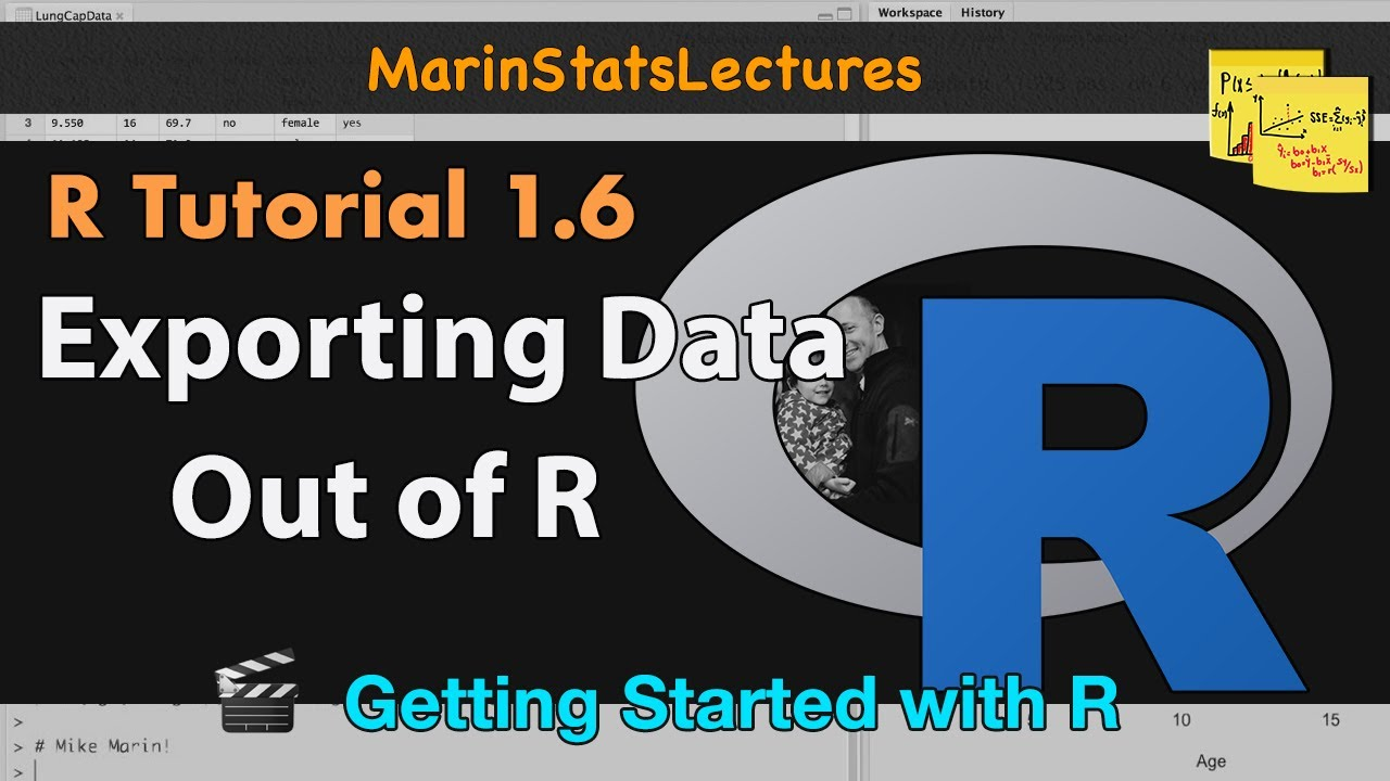 Export Data from R (csv , txt and other formats) | R Tutorial 1 6 |  MarinStatsLectures