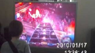Perfect score on guitar Hero Expert He is only 9 years old