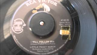 LITTLE PEGGY MARCH I WILL FOLLOW HIM RCA VICTOR RECORD LABEL