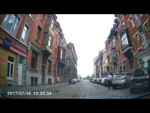 Driving through Liege Belgium