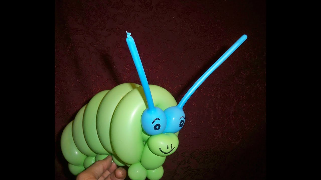 cute caterpillar balloon how to balloon animal youtube. Black Bedroom Furniture Sets. Home Design Ideas