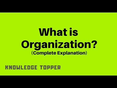What is Organization By Knowledge Topper (Urdu/Hindi)