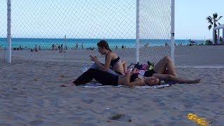 Spain Beach,  Active rest on the beach