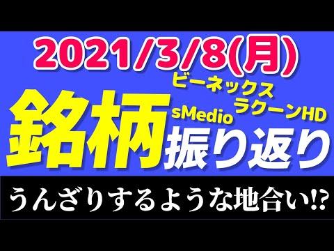 【相場振り返りシリーズ#136】2021年3月8日(月)~うんざりするような地合い!?~