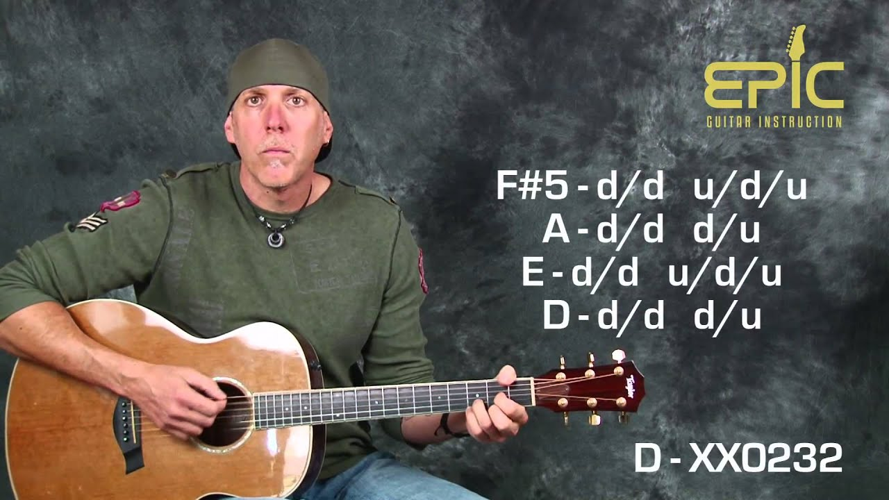 Learn Super Ez Beginner Song Seether Fine Again Acoustic Guitar