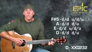 Learn super EZ beginner song Seether Fine Again acoustic guitar lesson with chords strum patterns Mp3