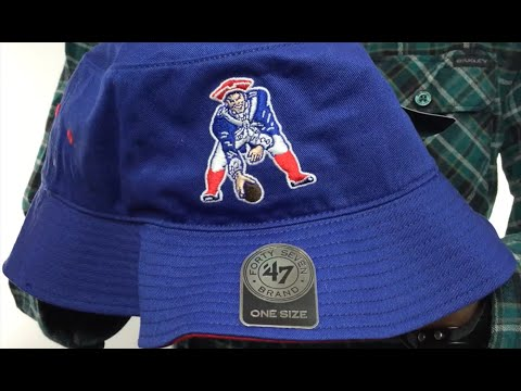 Patriots  THROWBACK KIRBY BUCKET  Royal Hat by Twins 47 Brand - YouTube ea9b41ba317