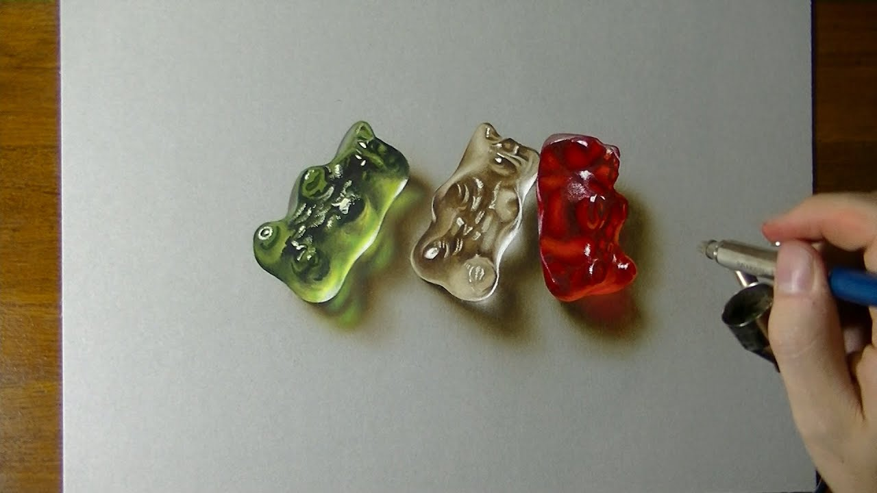 Gummy Bears Drawing - 3D Art
