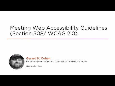 Meeting Web Accessibility Guidelines (Section 508/ WCAG 2.0 ...