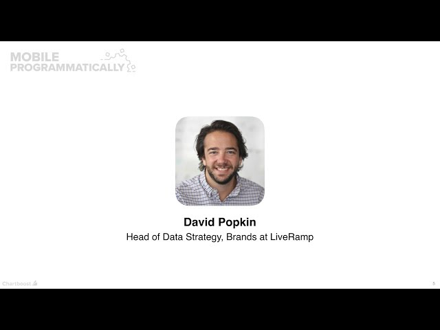 David Popkin (LiveRamp): The size and value of the in-app audiences (Mobile Programmatically)