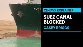 How a massive container ship blocked Egypt's Suez Canal | ABC News