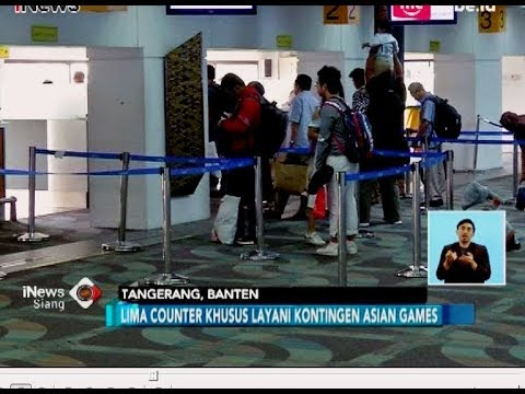 Lima Counter Khusus Bandara Soetta Layani Kontingen Asian Games - iNews Siang 17/07