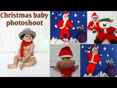 Christmas Theme Baby Photoshoot Ideas Best Christmas Baby Photoshoot At Home 2019 Youtube