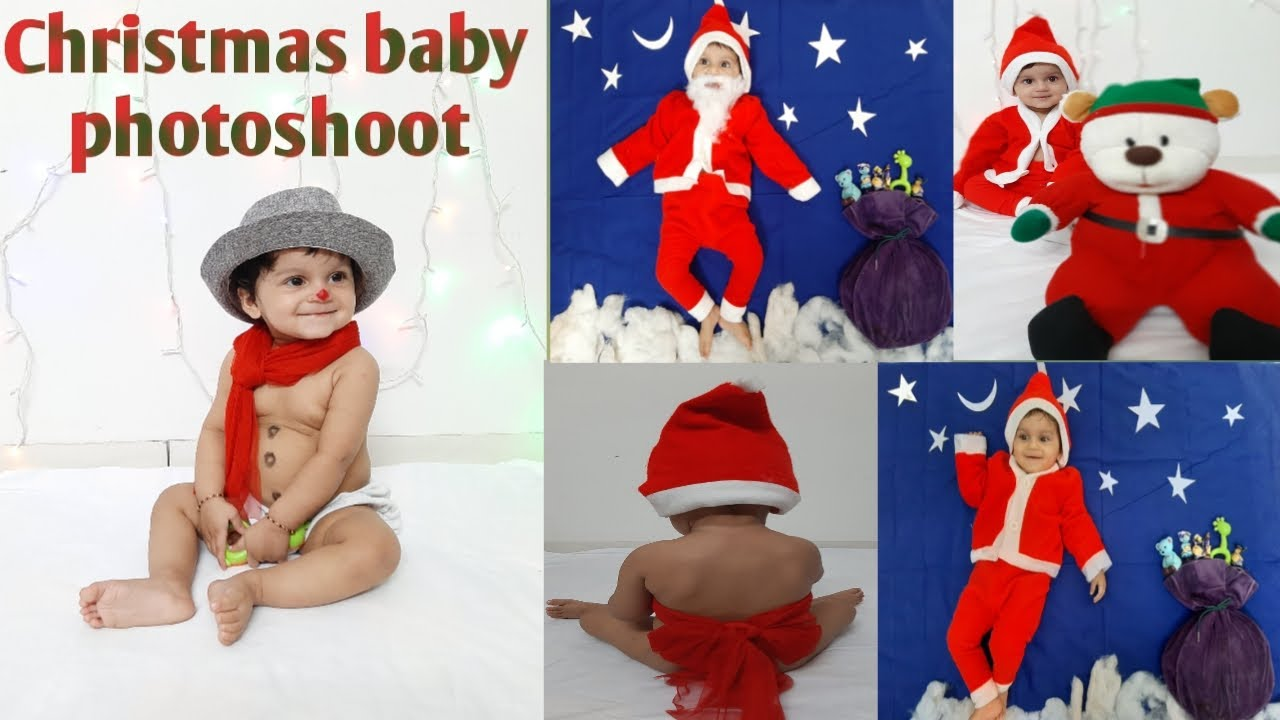 Christmas Theme Baby Photoshoot Ideas Best Christmas Baby Photoshoot At Home 2019 Youtube