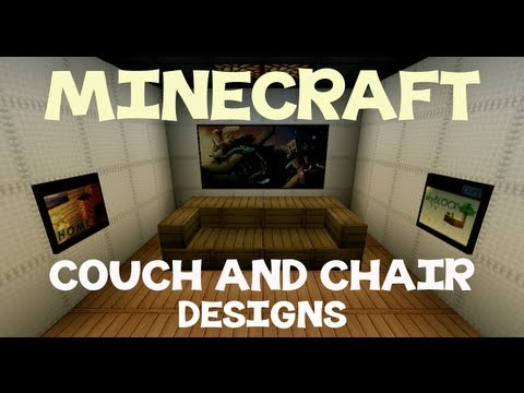 Couch Designs Pictures minecraft: couch and chair designs - youtube
