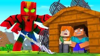 Minecraft - SPIDERMAN.EXE BASE CHALLENGE - Spider Man is EVIL! (Base vs Spiderman)