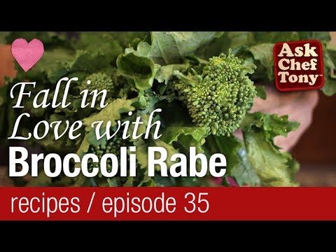 Broccoli Rabe, Rapini, Raab. How to Prepare, Cook, and Use it in a Recipe Video Recipes