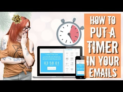 How To Add A Count Down Timer To Your Emails -  Holiday Prep Series Episode 5