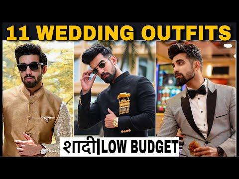 11 WEDDING OUTFITS  SAVE MONEY  INDIAN WEDDING MEN  ETHNIC WEAR SHERWANI  INDO WESTERN  SUIT   HINDI