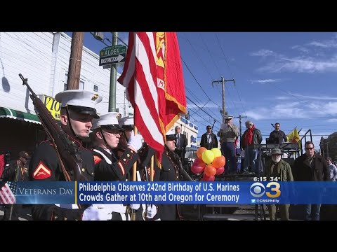 Philadelphia Celebrates 242nd Birthday Of U.S. Marines