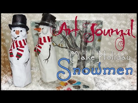 Holiday Craft - Easy Snow People with Paper Mache