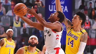 Raptors Blowout Lakers in 4th! Lowry 33 Points! 2020 NBA Restart