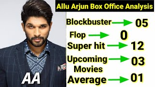 Allu Arjun All Hit And Fop Movies List And Collection, Upcoming movies of Allu Arjun