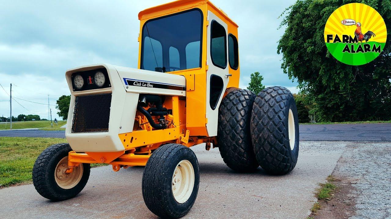 international cub lo boy 185 cab tractor dual wheels [ 1280 x 720 Pixel ]