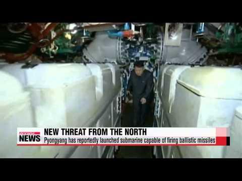 "Pyongyang launches ballistic-missile submarine ""北, 탄도미사일 발사가능 신형 잠수함 진수"