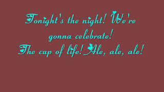 RICKY MARTIN - THE CUP OF LIFE - Lyrics (Canción con letra)