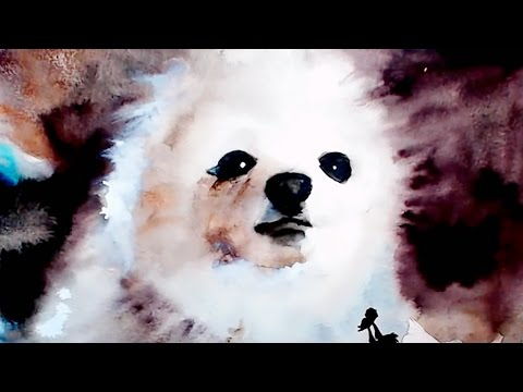 【Gabe The Dog / Dog Source / Bork】 Watercolor Painting Live Stream